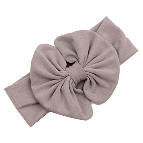 Binmer(TM)New Children Big Bow Girls Headband Baby Hairband Kids Head Wraps (Khaki)