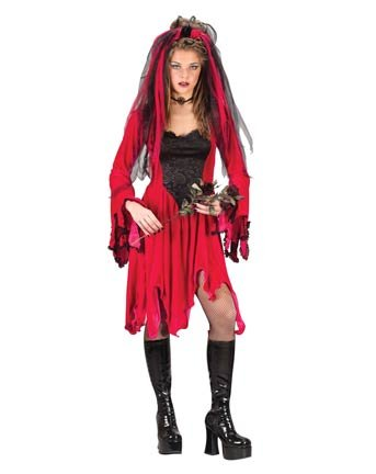 Fun World girls 'devil bride' halloween costume/ Multicoloured]()
