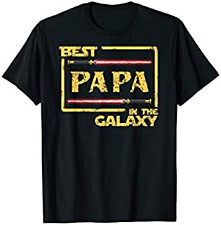 Birthday Gift Mens Best Papa In The Galaxy Father's Day Papa  Short and Long Sleeve Shirt/Hoodie