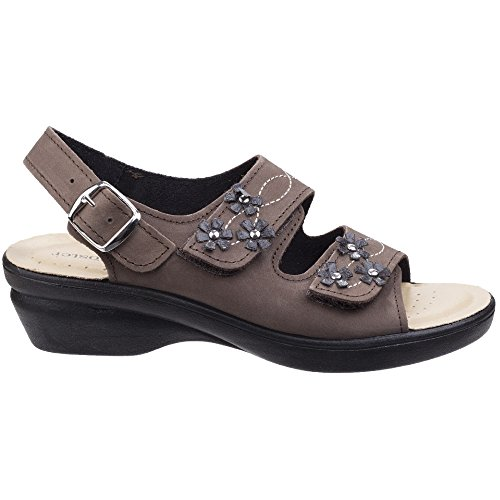 Fleet Opening with Sandal with Toe Two Adjustment Touch Leather Points Caged Fully Inner Soft And Touch Womens with Upper Luxuriously Open Three Fas Foster Sandal Soft rqwrR0C