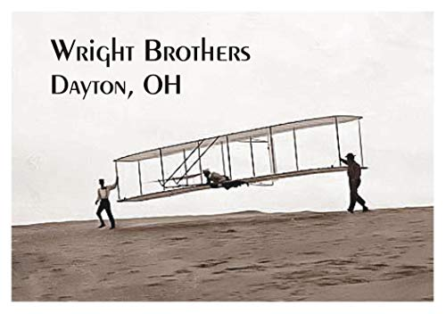 Wright Brothers, Orville and Wilbur, Dayton, Ohio, Flight, Airplane, Magnet 2 x 3 Photo Fridge Magnet
