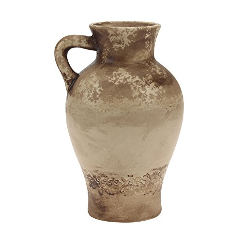 Stonebriar Sand Weathered Vase with Handle, Small