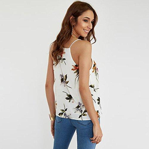 Chic T Shirt Blouse Dames Chemises Imprim Femme Wolfleague nqz1xFwP