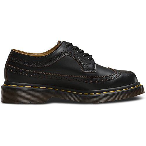 Dr. Martens Unisex 3989 Vintage Brogue Oxfords, Black, 7 M UK, M8/W9 M US
