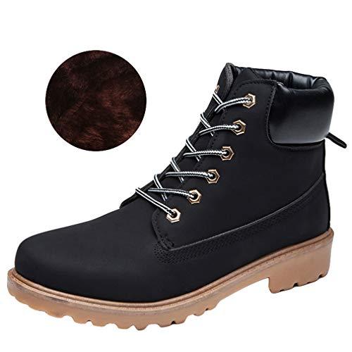 2018 Randonnée Travail Chaussures Martin Lacets Bottes Top Combat Bottines Noir Plus Nouveau Desert Chaussures Bottes Femmes Talon Automne Velours Plat Hiver Haut à dqxTwCO7