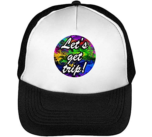 Beisbol Hombre Gorras Lets Negro Blanco Colourful Snapback Graphic Get Trip IXwq0xqO7