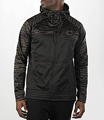 Nike Mens KD Ultimate Hyper Elite Full Zip Hooded Sweatshirt Black 686189-010 M