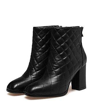 Best 4U® Damen Schuhe Nappaleder Leder Herbst Winter Modische Stiefel Stiefeletten Springerstiefel Stiefel Blockabsatz Booties Stiefeletten Stiefel Für Normal Weiß Weiß 733a9e