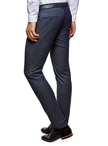 Cintura Blu Con Pantaloni Ultra 7500n Slim Fit Uomo Oodji vqTwCUY