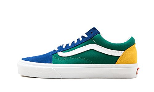 Vans Unisex Adults' Old Skool Trainers, Multicolour ((Vans Blue Yacht Club) Blue/Green/Yellow R1Q), 6.5 UK 40 EU