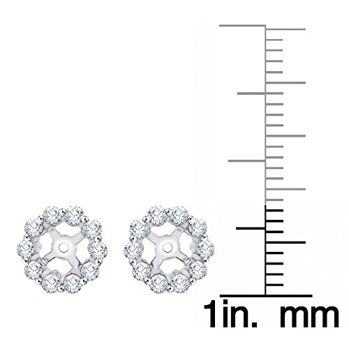 Diamond Earring Jackets in 14K White Gold (3/8 cttw) (Color IJ, Clarity I1) by KATARINA (Image #2)