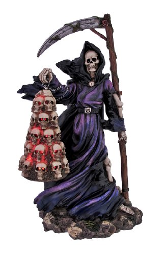 Cool Grim Reaper Skull Lantern Accent Lamp Light