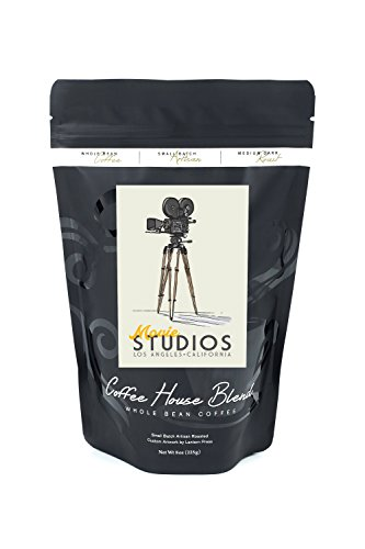 Los Angeles, California - Movie Camera (8oz Whole Bean Small Batch Artisan Coffee - Bold & Strong Medium Dark Roast w/ Artwork) by Lantern Press