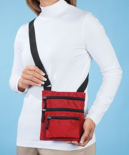 Crossbody Hands Bag Free Hands Red Free BwYqz6Zxt