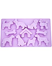 LYWUU Dog Shaped Silicone Ice Cube Mold and Trays Jelly Biscuits Chocolate Candy Baking