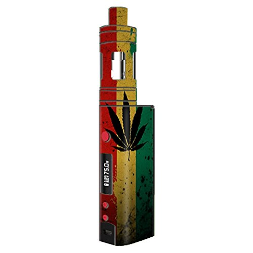 Skin Decal Vinyl Wrap for KangerTech TopBox Mini Vape Mod Box / Rasta Weed Pot Leaf Red