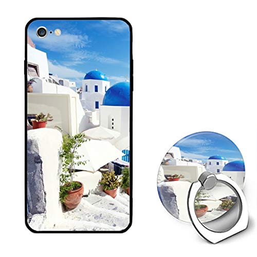 Greek Beach iPhone 6S Case for Girls,iPhone 6 Case,Hard PC Case with Ring Kickstand Protective Cover for iPhone 6/6S 4.7