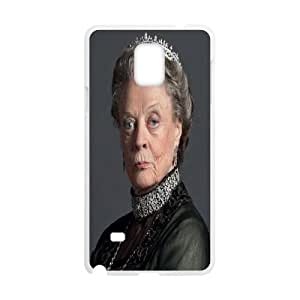 Yearinspace Downton Abbey The Dowager Countess of Grantham Case For Samsung Galaxy Note 4 Shock Absorb, Case For Samsung Galaxy Note4 Protective Cute For Girls With White