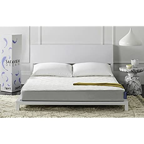 Safavieh Dream Collection Clarity White Spring Mattress 6 Inch King