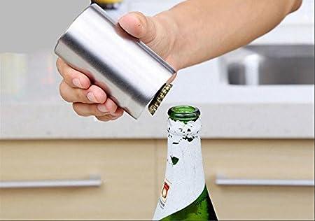 Interesting® Herramienta de Inicio de fábrica de Vino de Tapa de Soda de Botella de Cerveza de Apertura automática de Acero Inoxidable