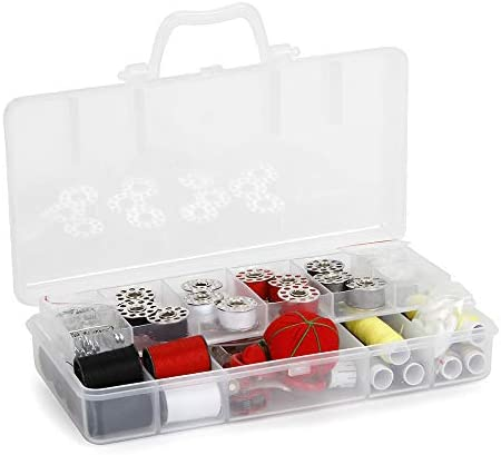 Sunbeam SEWING KIT Emergency SB18 Over 120 Premium Sewing Supplies Extra 12 quality Safety Pins Most Useful Colors of Threads for Beginners 13 Spools of Thread Durable and Compact Box Mini Travel sewing kit