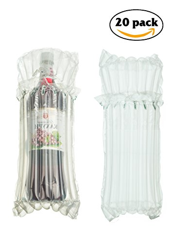 Bottle Bubble Wrap 20 PACK | Wine Wrap Protector | Wrap Sleeves (Air Bubble Dispenser Pack)