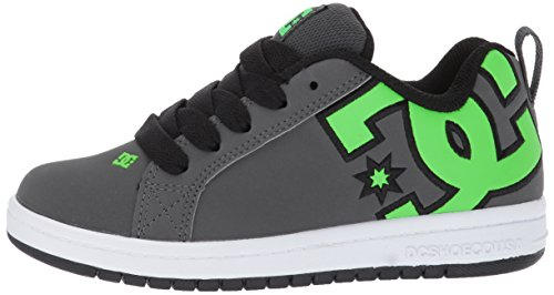 Shoes Green Court Grey M US Kids' 12 Skate Graffik Little White DC Kid Youth XSwAqxU
