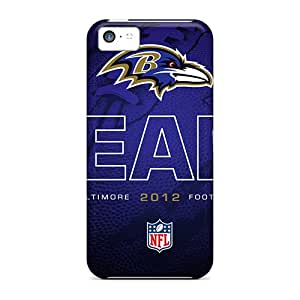 Durable Hard Phone Covers For Iphone 5c With Support Your Personal Customized High-definition Baltimore Ravens Pattern IanJoeyPatricia