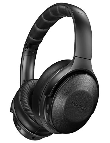 Mpow Active Noise Cancelling Headphones, Over Ear Bluetooth Headphones H17 with Quick Charge, ANC Headphones with Soft Genuine Protein Earpads, Hi-Fi Stereo Sounds, 30H Playtime for TV/Travel