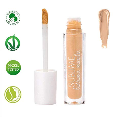 PuroBIO Certified Organic Concealer 02 Second-Skin Effect with Plant Extracts, Hyaluronic Acid and Avocado Oil. Full Coverage, Radiant, Plumping Effect. Organic. Vegan. Made in Italy