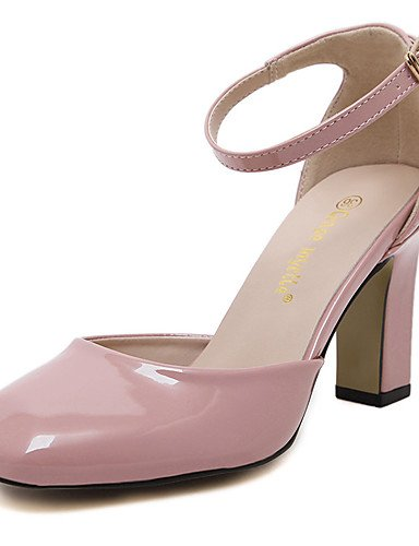 tacones Mujer Pink Eu38 Trabajo tac¨®n Zq 5 Uk6 tacones Cn39 us7 C cuero Vestido Robusto Uk5 Cuadrada De Eu39 5 Cn38 Y Zapatos Noche Punta Oficina Pink boda us8 Fiesta Cerrada OOSzx