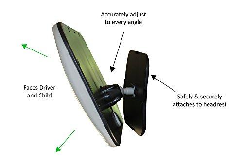 Back Seat Mirror: Mr. Peekatmee Backseat Baby Safety Mirror by Mr. Peekatmee (Image #1)