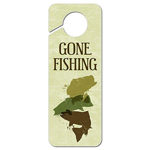 Graphics and More Gone Fishing Plastic Door Knob Hanger Sign ()