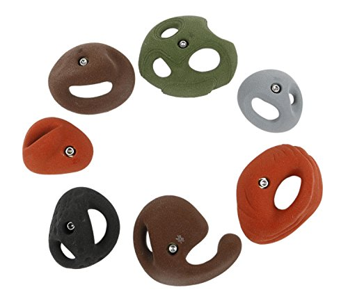 7 Large Pockets | Climbing Holds | Mixed Earth Tones by Atomik Climbing Holds