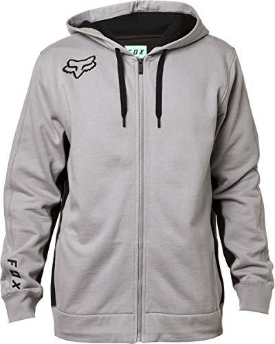 Drawstring Sweatshirt Edwards - Fox Racing Redplate 360 Zip Hoody-Steel Grey-L