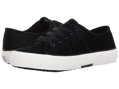 (ローレンラルフローレン) LAUREN Ralph Lauren レディースウォーキングシューズ?カジュアルスニーカー?靴 Jolie-SK-V Black Velvet 7.5 24.5cm B - Medium [並行輸入品]