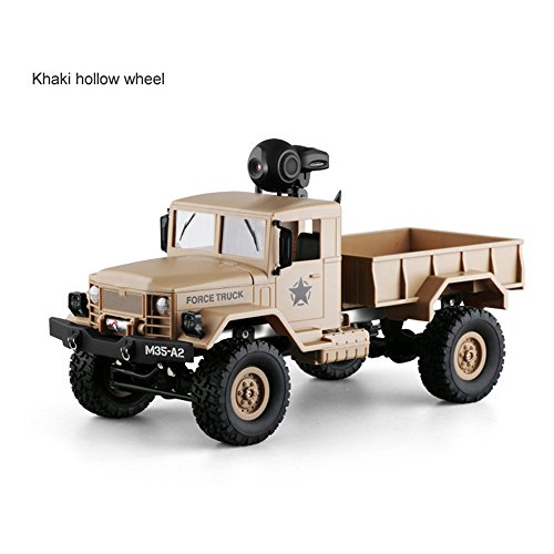 RC Military Truck Army With WIFI 720P Camera 1:16 4WD Off-Road Car RTR APP Control ,Racing Vehicles Car Toy Track Cars Toys Birthday Gift for Kids Toddlers Boys,Car Toys for 1 Year Old (Yellow) by DICPOLIA (Image #3)