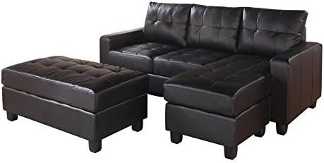 ACME Lyssa Sectional Sofa w/Ottoman - a good cheap living room sofa