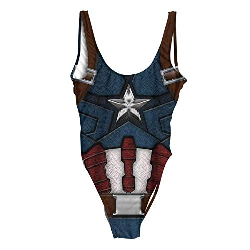 Beloved Shirts Captain America One Piece Swimsuit