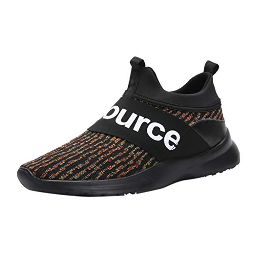 JUSTWIN Men's Summer Breathable Sports Shoes Round Head Slip-On Camouflage Mesh Lightweight Pedal Sneakers Shoes