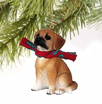 Image Unavailable - Amazon.com: Puggle Tiny Miniature One Christmas Ornament Brown
