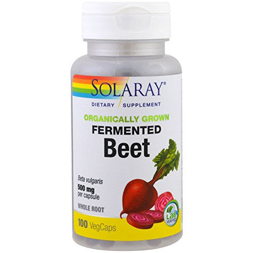 - Solaray Organically Grown Fermented, Beet Root, White, 100 Count