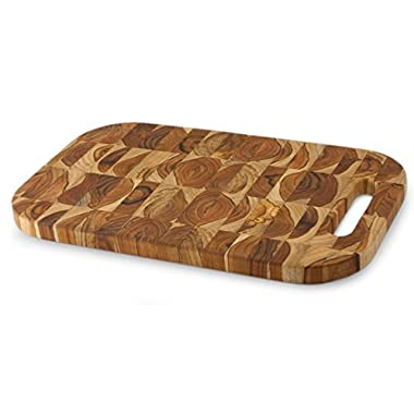 NOVICA 199462  Nature S Rectangular Puzzles Reclaimed Teakwood Chopping Board, Large