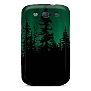 Hot New Aurora Over A Dark Forest Case Cover For Galaxy S3 With Perfect Design