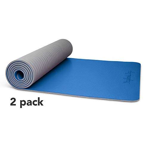 Amazon.com : Youphoria Yoga Non Slip Yoga Mats (8 Pack - 2X ...