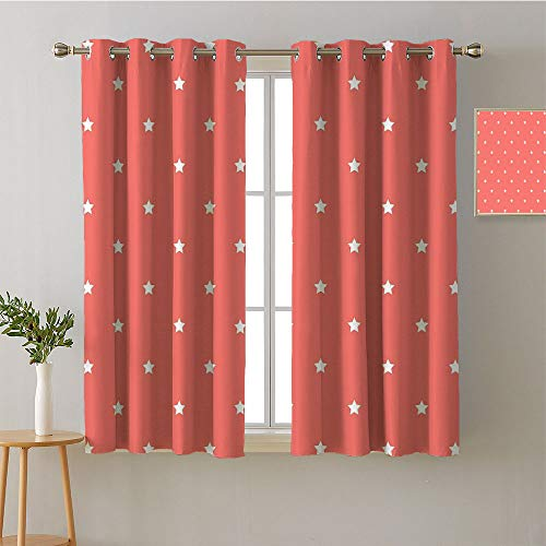 Suchashome Curtain Kitchen Window Grommets Fashion Darkening Curtains Decorative Darkening Curtains Modes Darkening Curtains Room/Bedroom(2 Pieces, 52