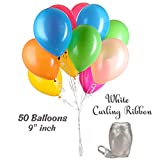 Helium Tank + 50 Multi Color balloons + Hi-Float