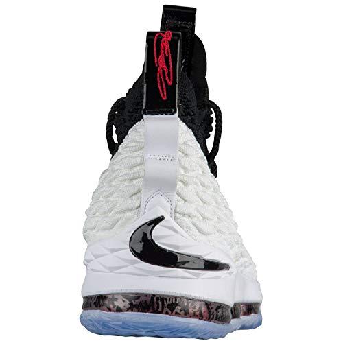 Nike Lebron XV 100 Scarpe Multicolore Black da Fitness Un Black White Uomo ww7TRqZr