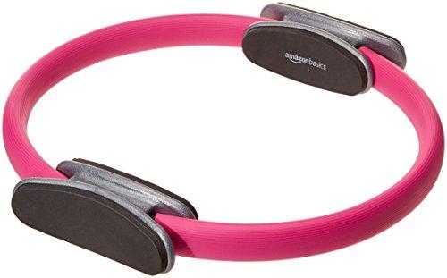 AmazonBasics Pilates Fitness Resistance Training Magic Circle Ring - 14 Inch, Pink