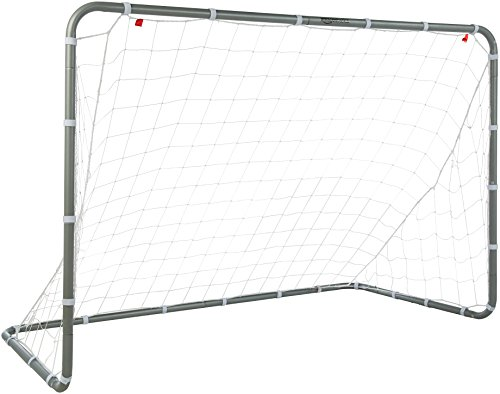 AmazonBasics Soccer Goal Frame With Net - 6 x 3 x 4 Foot, Steel Frame